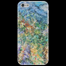 """Чехол для iPhone 5 """"Прованс"""" - горы, франция, домики, альпы, прованс"""