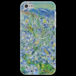 """Чехол для iPhone 5 """"Поцелуй небес"""" - красиво, лето, небо, деревня, лен"""
