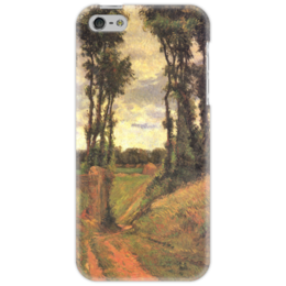 "Чехол для iPhone 5 ""Тополя, Осни"" - картина, поль гоген"