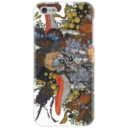 """Чехол для iPhone 5 """"дюймовочка"""" - бабочка, осень, жук, лес, ягоды, насекомые, грибы, дюймовочка"""