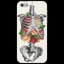 """Чехол для iPhone 5 """"Дыши полной грудью"""" - арт, цветы, оригинально, креативно"""