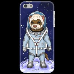 """Чехол для iPhone 5 """"хорёк космос"""" - прикольные, космос, оригинально, хорек"""