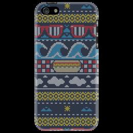 """Чехол для iPhone 5 """"Пиксельный узор"""" - арт, узор, стиль, pixel, орнамент"""