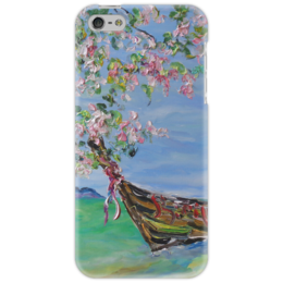 "Чехол для iPhone 5 ""Тайланд"" - отпуск, лодка, океан, релакс, самуи"