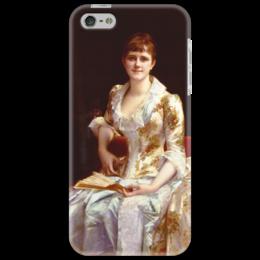 """Чехол для iPhone 5 """"Портрет молодой леди"""" - картина, кабанель"""