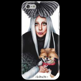 "Чехол для iPhone 5 ""Lady Gaga"" - музыка, арт, music, стиль, gaga, lady gaga, леди гага"