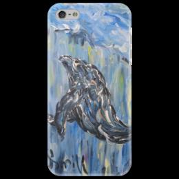 """Чехол для iPhone 5 """"Океан"""" - красота, подводный мир, кит, волны, под водой"""