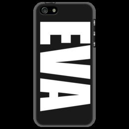 """Чехол для iPhone 5 """"с именем Ева"""" - ева, чехол с именем, чехол с именем ева"""