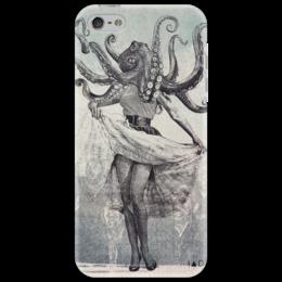 """Чехол для iPhone 5 """"octopus and Monroe"""" - рисунок, осьминог, мэрилин монро, marilyn monroe"""