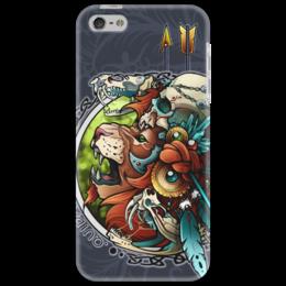 """Чехол для iPhone 5 """"Лев-воитель"""" - арт, лев, lion"""