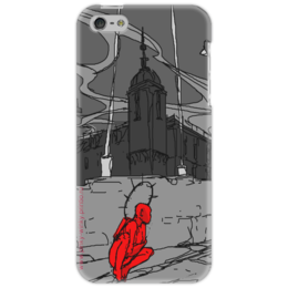 """Чехол для iPhone 5 """"Ангел или Демон - вот в чем вопрос..."""" - арт, в подарок, оригинально, креативно"""