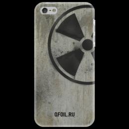 "Чехол для iPhone 5 ""Логотип-трафарет"" - сталкер, тёмная душа"