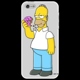 """Чехол для iPhone 5 """"Гомер"""" - гомер, simpsons, пончик"""