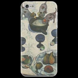"Чехол для iPhone 5 ""Натюрморт с тремя щенками"" - картина, поль гоген"