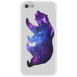 "Чехол для iPhone 5 ""Space animals"" - space, bear, медведь, космос, астрономия"