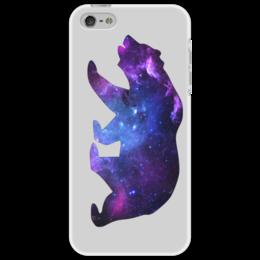 "Чехол для iPhone 5 ""Space animals"" - space, bear, медведь, космос, астрономия"