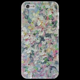 """Чехол для iPhone 5 """"Яблонька"""" - красиво, девушке, подарок, мазки, яблоня цветет"""