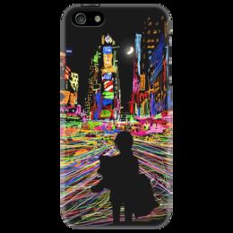 """Чехол для iPhone 5 """"Цветной город"""" - арт, стиль, night, city, color, urban, таймс сквер, times square"""