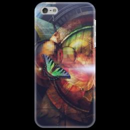 """Чехол для iPhone 5 """"Крышка для iPhone Оптическая бабочка"""" - бабочка"""