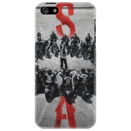 "Чехол для iPhone 5 ""S O A  B&W"" - криминальная драма, сыны анархии, sons of anarchy, crime, drama"