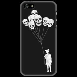 "Чехол для iPhone 5 ""Skull Balloons"" - skull, готика, черепа, girl, девочка"