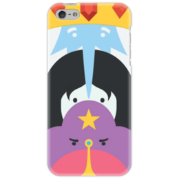 """Чехол для iPhone 5 """"Adventure Time Heroes Part 1"""" - время приключений, марселин, ледяной король, принцесса пупырка, принцесса бубльгум"""