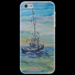 """Чехол для iPhone 5 """"Морской"""" - море, красота, небо, воздух, лодка"""