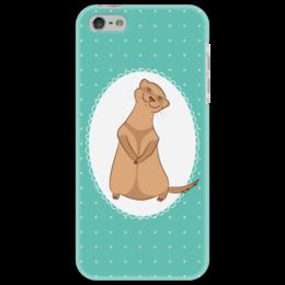 """Чехол для iPhone 5 """"Милый хорек"""" - арт, животное, хорек, мультяшный, ferret"""
