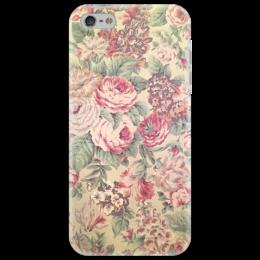 """Чехол для iPhone 5 """"Indie"""" - цветы, винтаж, indie"""