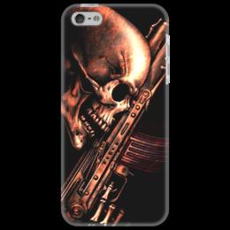 "Чехол для iPhone 5 ""ДО КОНЦА!!!"" - skull, череп, weapon, ак, характер"