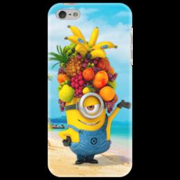 """Чехол для iPhone 5 """"Миньон Банана 2"""" - прикольно, юмор, смешное, apple, прикольные, гадкий я 2, despicable me 2"""