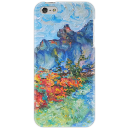 """Чехол для iPhone 5 """"Синие горы"""" - рай, горы, путешествие, mountains, в горах"""