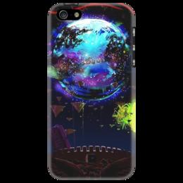 """Чехол для iPhone 5 """"Космос сквозь призму фантастики"""" - space, солнце, планета, космос, фантастика, чехол, шестеренки, зубцы, fantastic"""