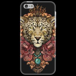"Чехол для iPhone 5 ""Catty"" - кошка, леопард, marymakes, отличный арт, леопардовый"