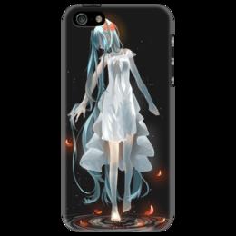 """Чехол для iPhone 5 """"Хатсуне Мику"""" - аниме, девушка, танец, ночь"""