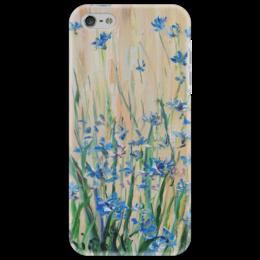 """Чехол для iPhone 5 """"Васильки"""" - весна, цветочки, художник, василек"""
