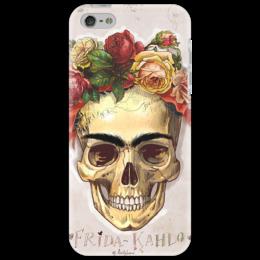 """Чехол для iPhone 5 """"Фрида сегодня"""" - череп, цветы, фрида кало, frida, mexico, skulls"""