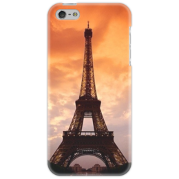 "Чехол для iPhone 5 ""Sunset in Paris"" - арт, paris, париж, sunset, eiffel tower, эйфелева баашня"