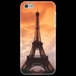 """Чехол для iPhone 5 """"Sunset in Paris"""" - арт, париж, sunset, paris, eiffel tower, эйфелева баашня"""