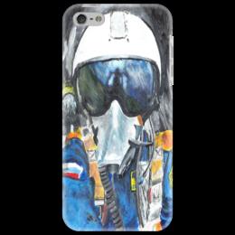 """Чехол для iPhone 5 """"ВВС РФ"""" - арт, война, рисунок, оригинально, небо, самолёт, сила, авиация, ввс, лётчик"""