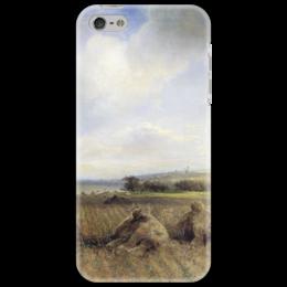 """Чехол для iPhone 5 """"К концу лета на Волге"""" - картина, саврасов"""