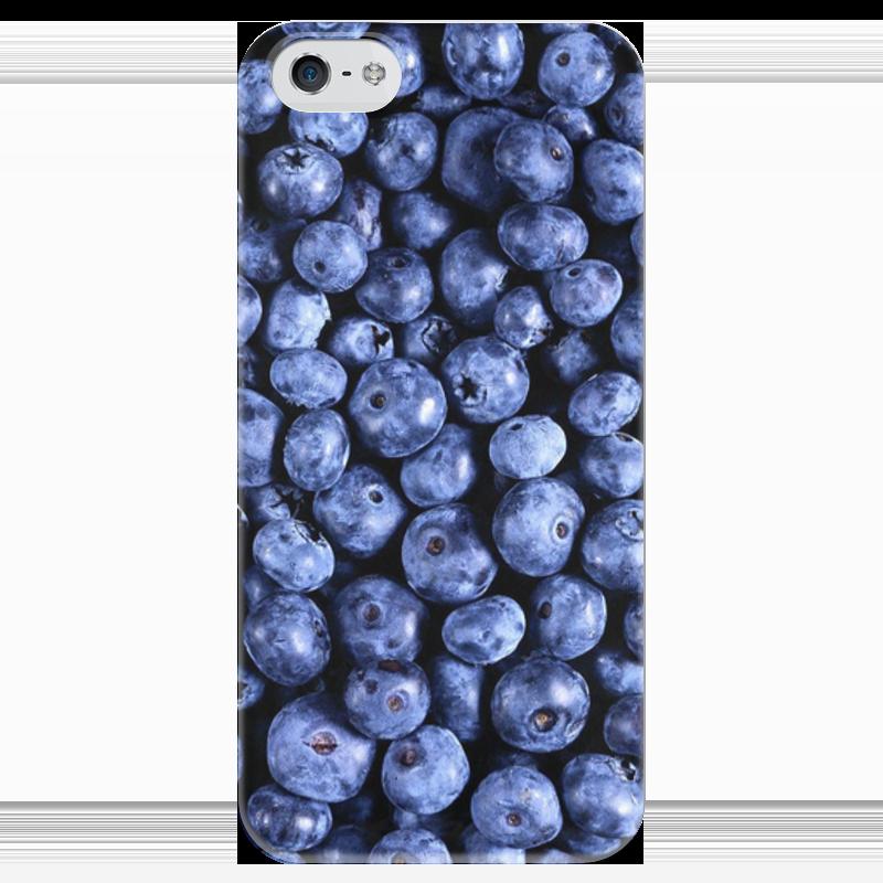 Чехол для iPhone 5 глянцевый, с полной запечаткой Printio Черника жевательные пластики витамины черника форте для детей
