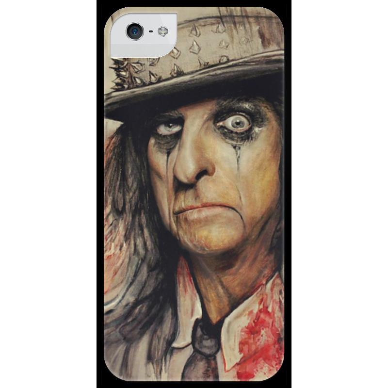 Чехол для iPhone 5 глянцевый, с полной запечаткой Printio Alice cooper