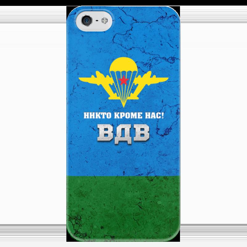 Чехол для iPhone 5 глянцевый, с полной запечаткой Printio Воздушно-десантные войска