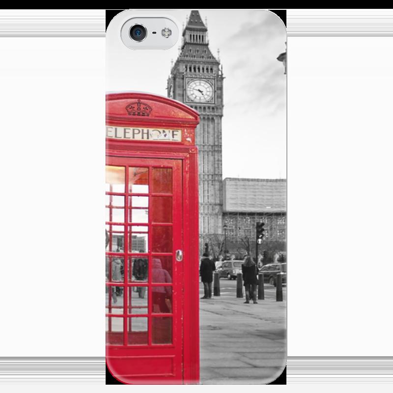 Чехол для iPhone 5 глянцевый, с полной запечаткой Printio London стоимость