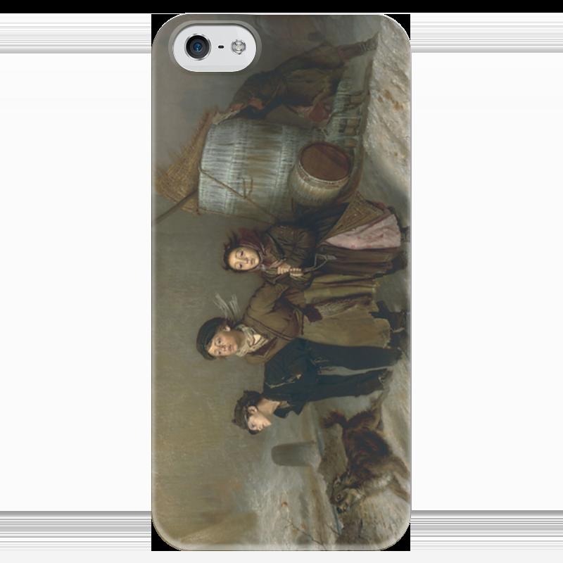 Чехол для iPhone 5 глянцевый, с полной запечаткой Printio Тройка (картина василия перова) теплые комбинезоны тройка для детей