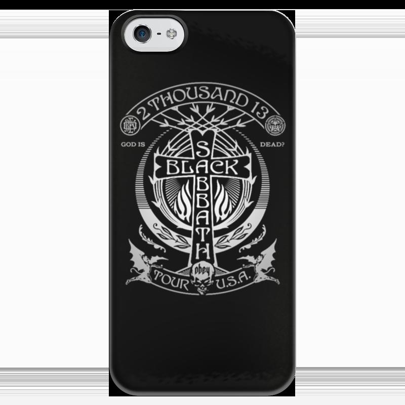 Чехол для iPhone 5 глянцевый, с полной запечаткой Printio Black sabbath чехол для iphone 5 глянцевый с полной запечаткой printio bruce black white