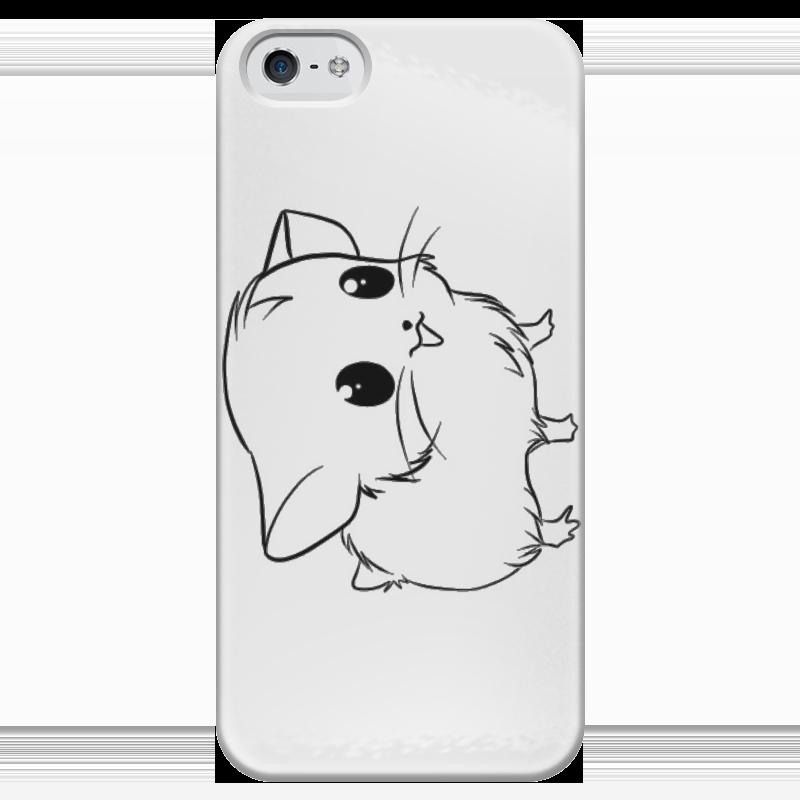Чехол для iPhone 5 глянцевый, с полной запечаткой Printio Милый зверь