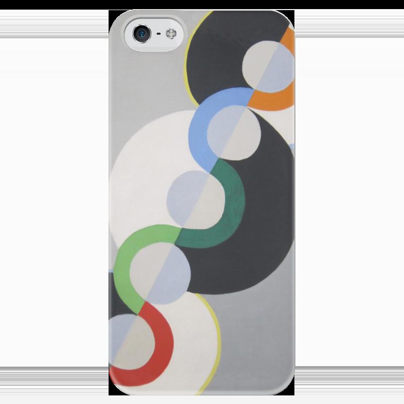 Чехол для iPhone 5 глянцевый, с полной запечаткой Printio Бесконечный ритм (робер делоне) футболка с полной запечаткой мужская printio обнажённая с книгой робер делоне