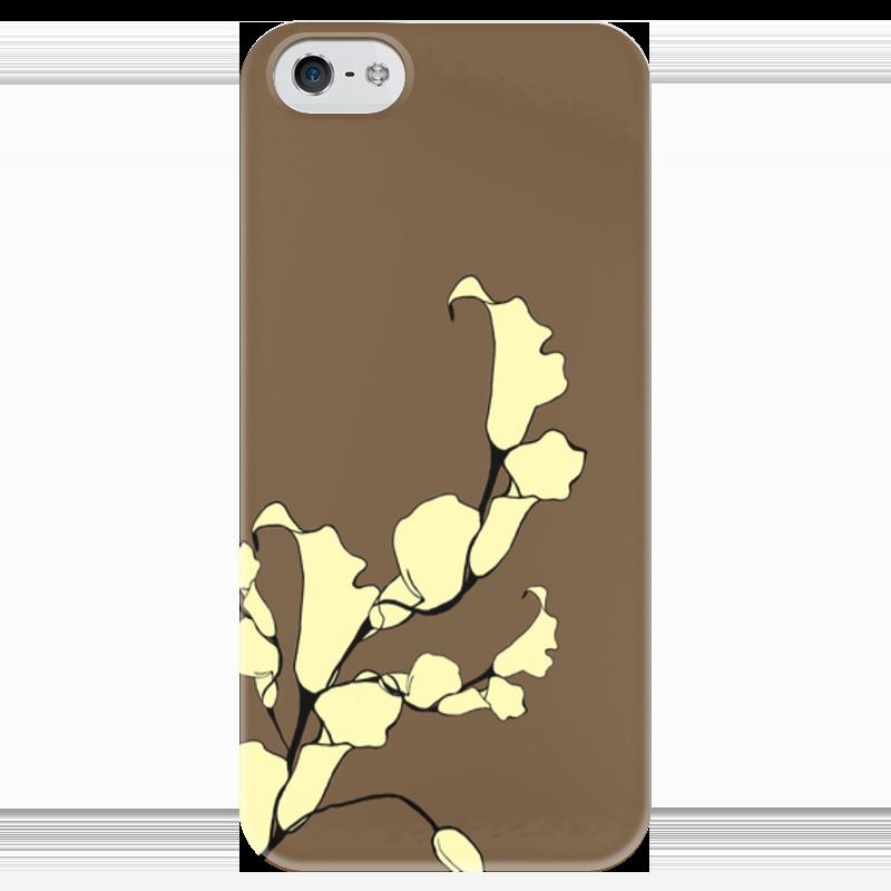 Чехол для iPhone 5 глянцевый, с полной запечаткой Printio Цветы чехол для iphone 5 глянцевый с полной запечаткой printio цикличность